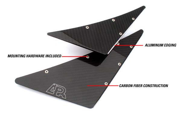 APR Carbon front bumper canards EVO 9