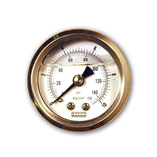 Fuel pressure gauge 1/8 NPT Liquid Filled