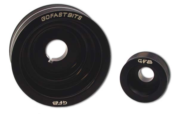 gfb ej wrxsti pc pulley set underdrive driven performance