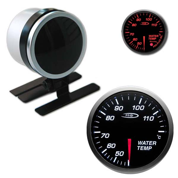 Pro+ black face water temp gauge – stepper motor