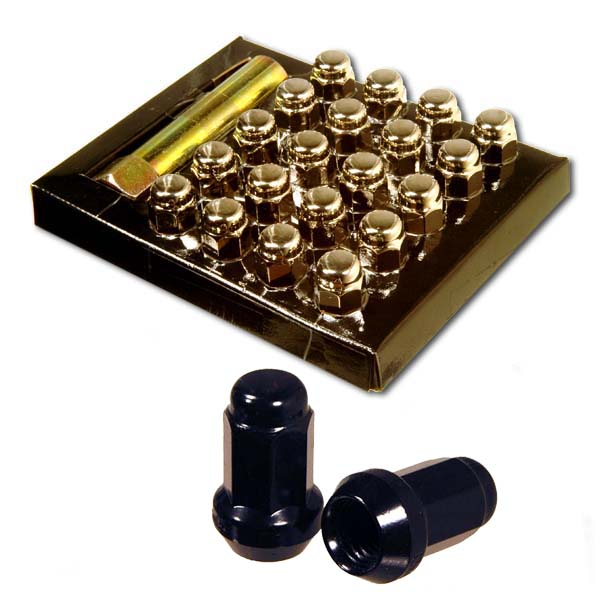 Anti-theft wheel nut set (20pcs) P1.25 heptagon