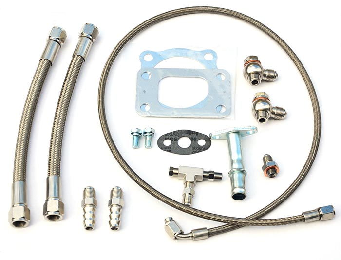 Turbo oil and water line kit Garrett BB turbo (GT3582R, GT3037R etc) universal V2