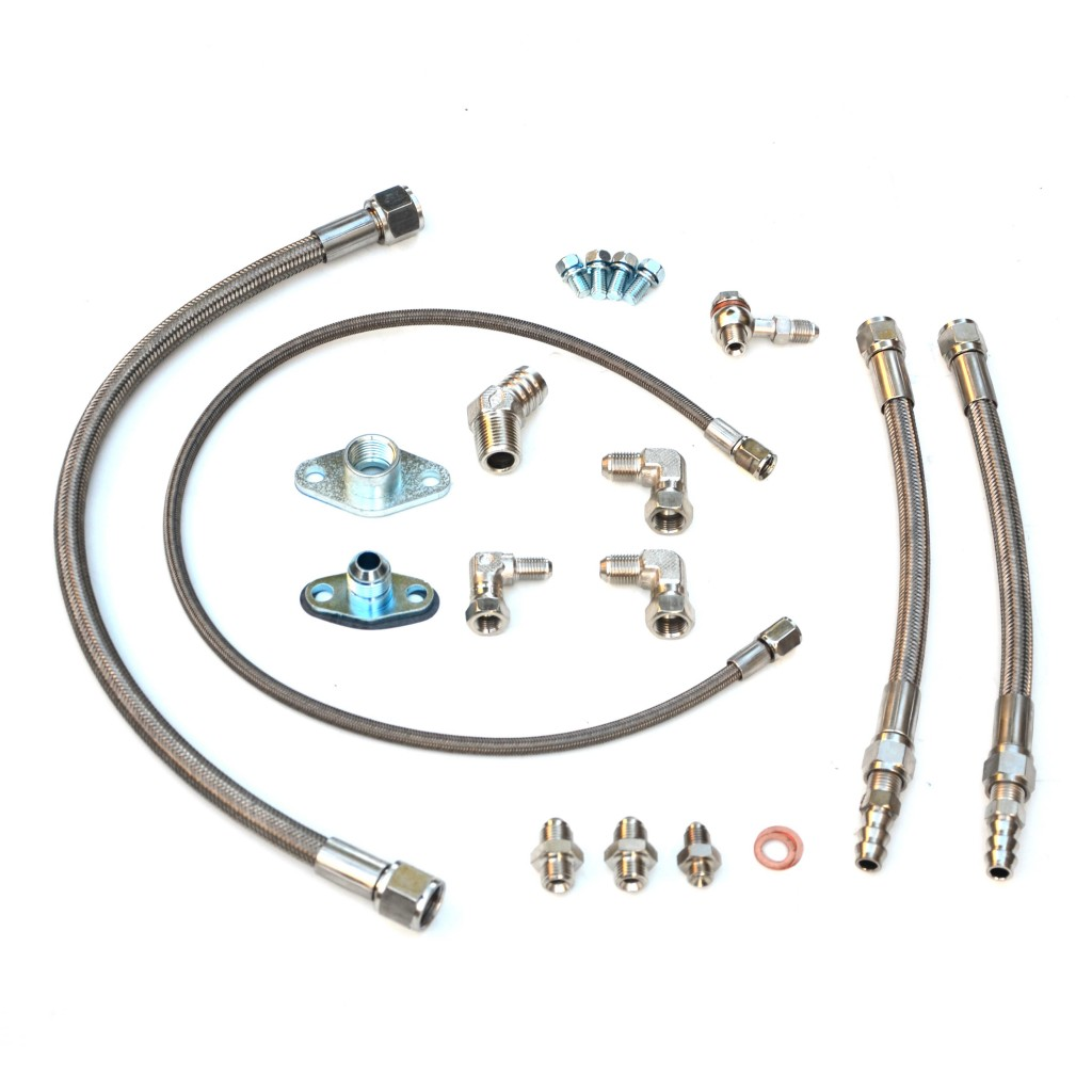 Turbo oil and water line kit Toyota 1JZ-GTE with GT30R GT35R