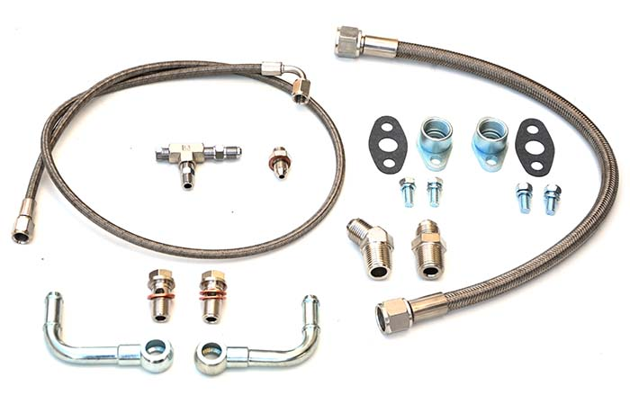 Turbo oil and water line kit Garrett BB turbo (GT3582R, GT3037R etc) universal