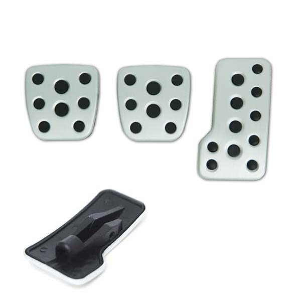 Brushed alloy pedals – set of 3 (Manual)