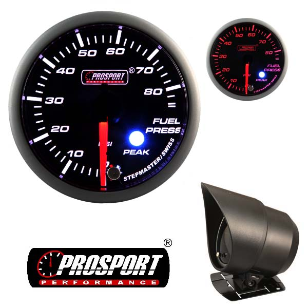 Prosport USA fuel press. gauge – Premium Peak Warn