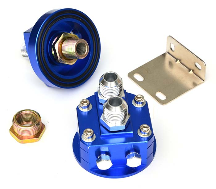 Oil filter remote mount adaptor set