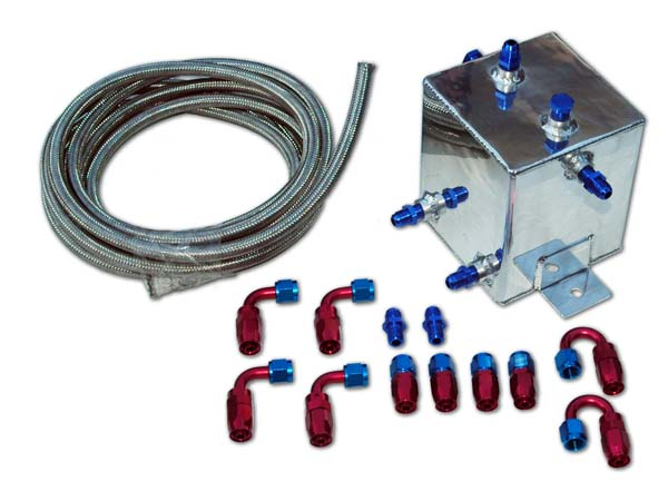 DPR Fuel Surge Tank 2L square w/ fitting kit