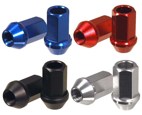 Aluminium wheel nut set (20pcs) P1.25 40mm