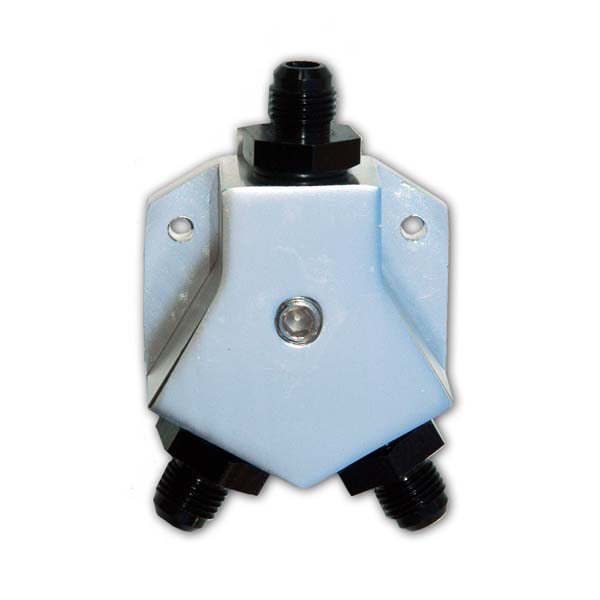 Y-splitter fitting with -4AN ports