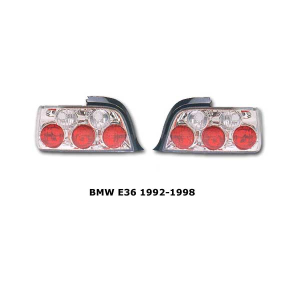 Clear tail lights BMW E36 2 door 1992-1998 chr