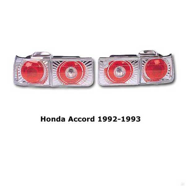 Clear tail lights Honda Accord 1992-1993 chr