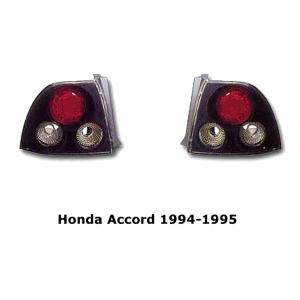 Clear tail lights Honda Accord 1994-1995 blk