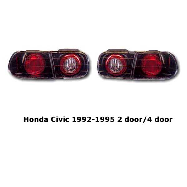 Clear tail lights Honda Civic 1992-1995 blk
