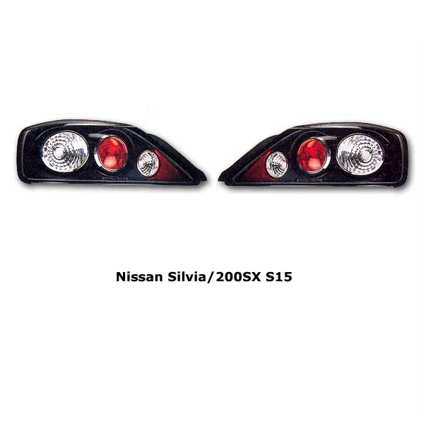 Clear tail lights Nissan Silvia S15 blk
