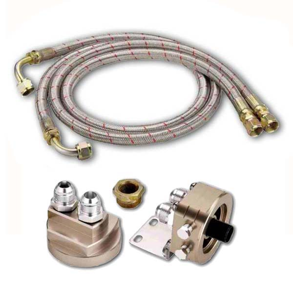Oil filter relocation kit – 2 line remote kit