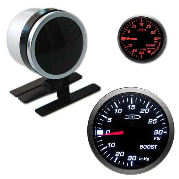 Pro+ black face boost gauge – stepper motor