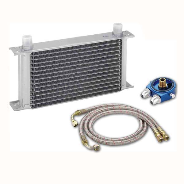 Oil cooler kit (UK Type 15 row, direct fit)